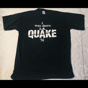 Vintage single stitch '94 LA earthquake t shirt XL